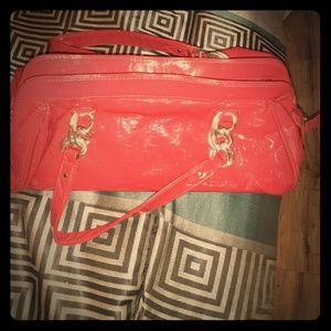 Handbags - Red Patten Leather Handbag